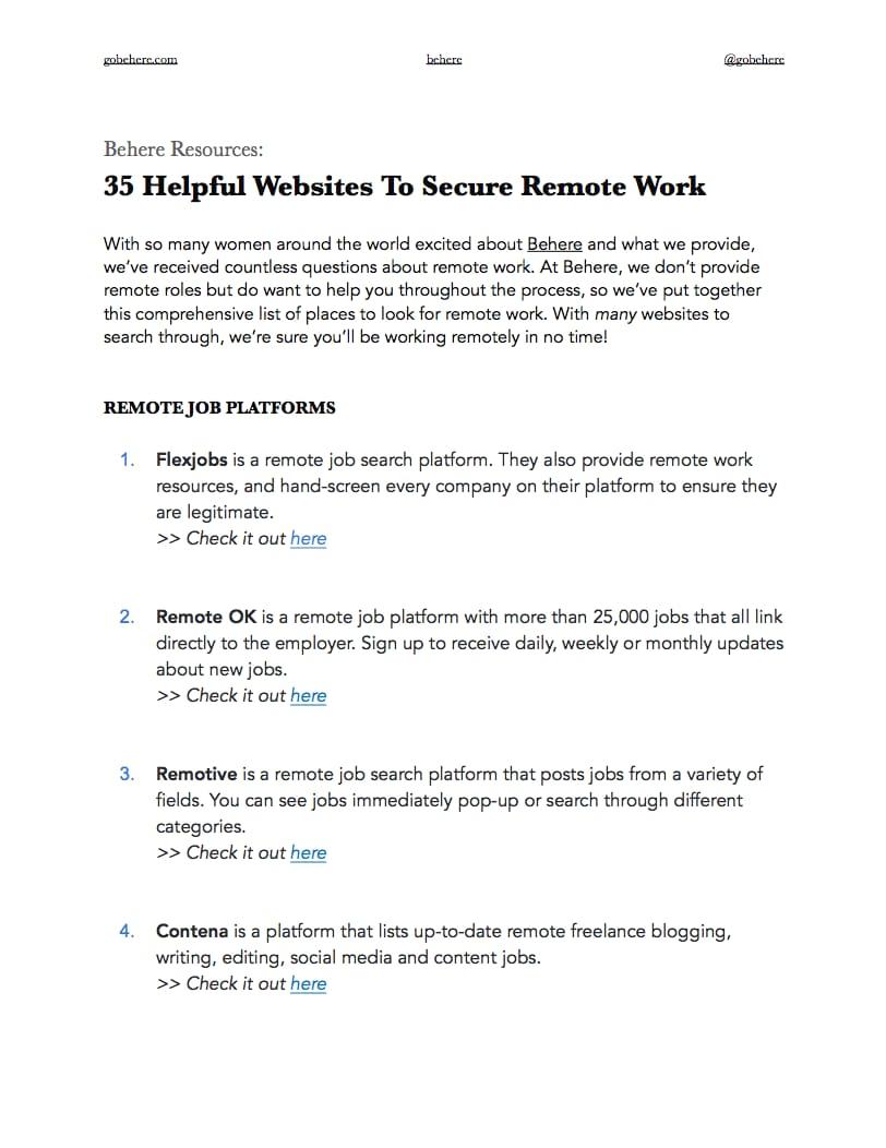Helpful Websites to find Flexible Roles